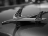 Hood ornament, antique car. Black and white photo © Andrée Fredette