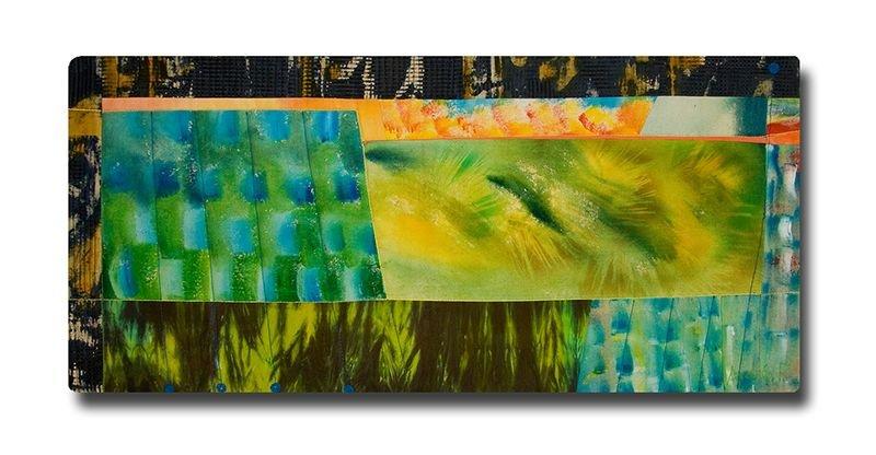 Forêt-boréale - Original Cotton quilt, machine-pieced and quilted by Andrée Fredette