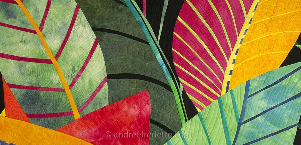 Detail of Jungle quilt © Andrée Fredette