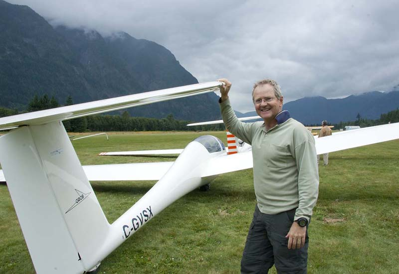 Don the pilot, Vancouver Soaring Club, Hope, BC