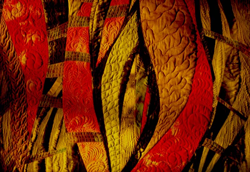 Stitching detail, Récif Quilted Textile