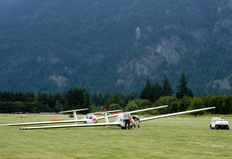 Gliders, Vancouver Soaring Association, Hope Airfield, BC
