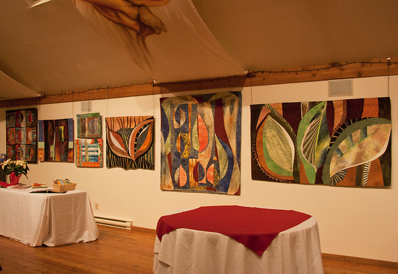 Art Quilts by Andrée Fredette at Muse Winery Art Show, December 2011