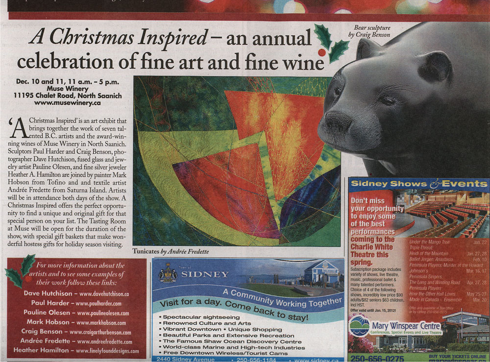 Art Show at Muse Winery, December 10-11