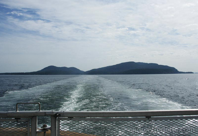Saturna Island, from the back of the ferry...