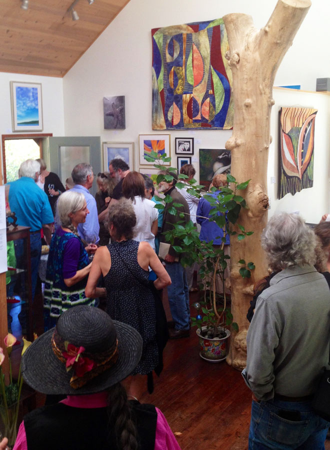 Saturna Artists Show, opening reception, Insight Gallery, Galiano, BC August 2013