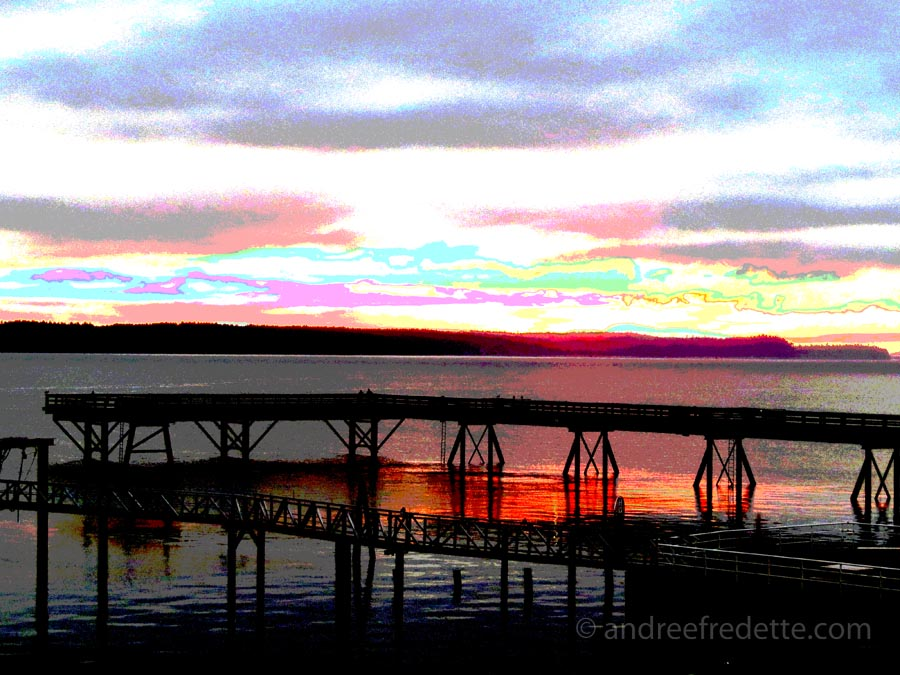 January Morning, Sidney pier, Vancouver Island, British Columbia. Photo © by Andrée Fredette