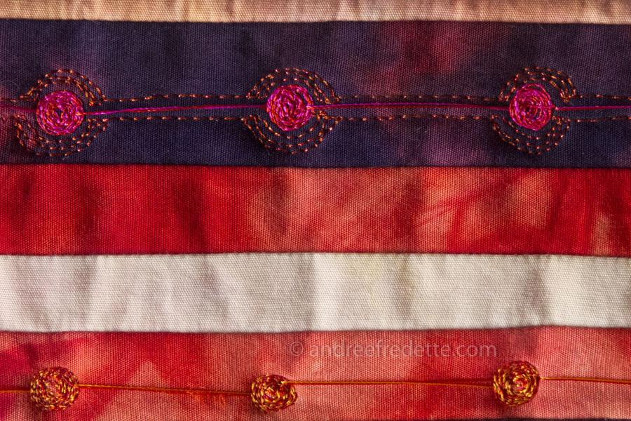 Quilt stitch sample. Photo © Andrée Fredette