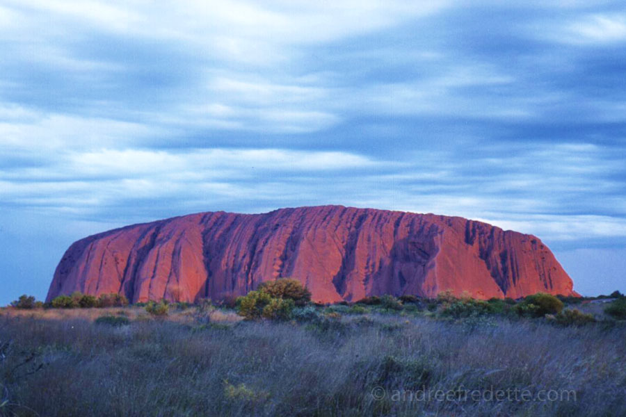 Uluru or Ayer's Rock, in the late afternoon. Photo © Andrée Fredette