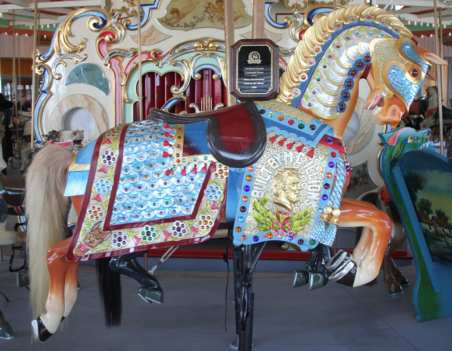 Coney Island Style Carousel Horse, Photo by Peter Greenberg