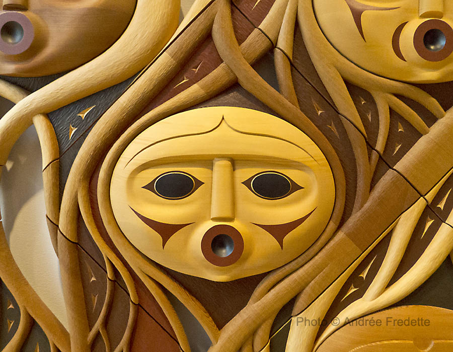 The First People, detail. Susan Point, Coast Salish Musqueam Nation. Photo © Andrée Fredette