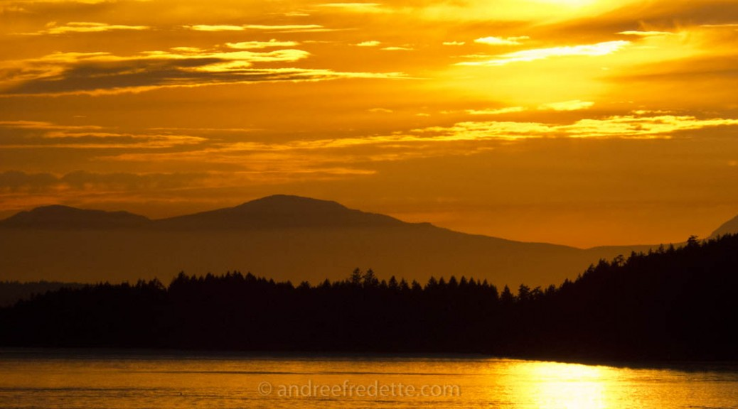 May Sunset, Southern Gulf Islands of BC. Photo © Andrée Fredette