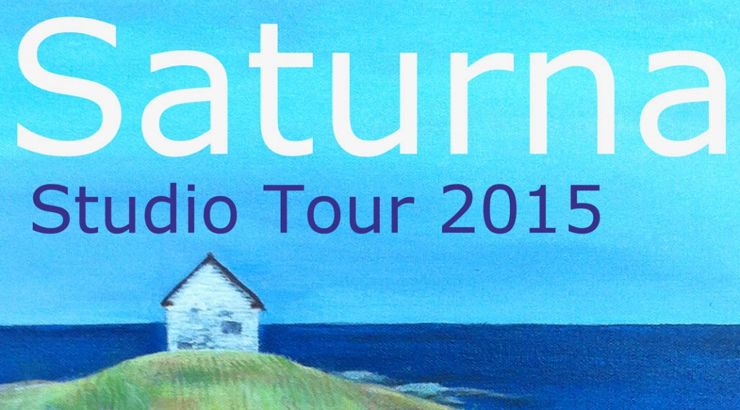 Saturna Studio Tour 2015. Sunday, August 2nd, from 11 am to 4 pm.