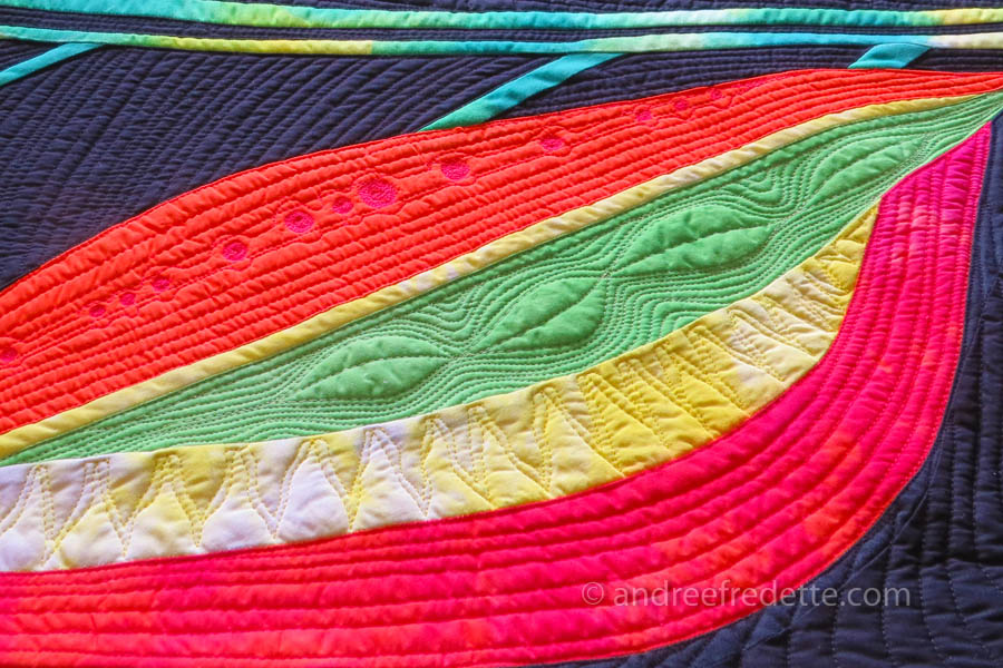 Curvy Quilting Lines, Quilt and photo by Andrée Fredette