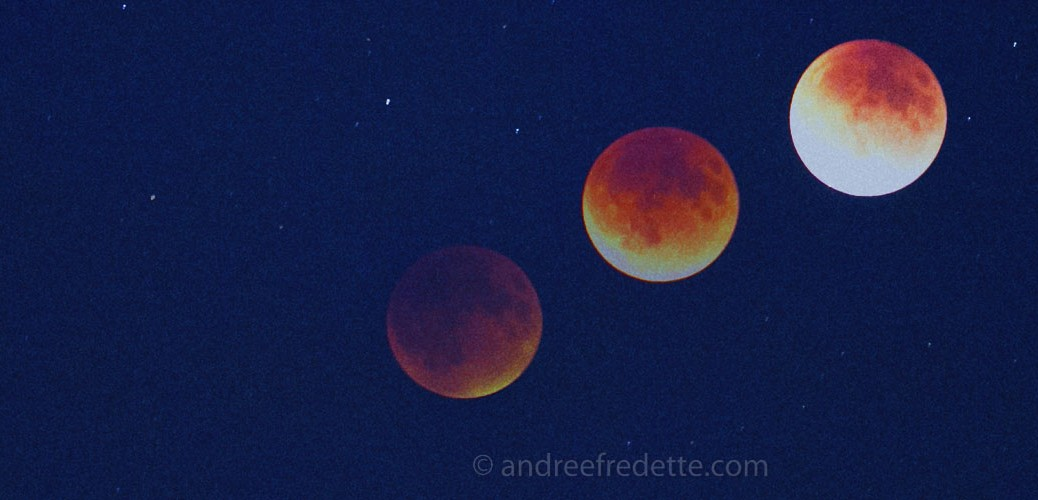 Red Moon Times Three. Photo by Andrée Fredette
