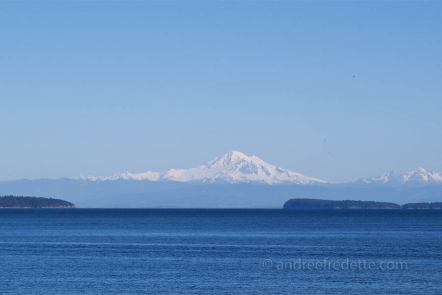 Mount Baker, from Saturna Island, BC. Photo by Andrée Fredette