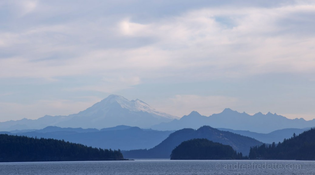 Mount Baker Silhouette, early morning. Photo by Andrée Fredette