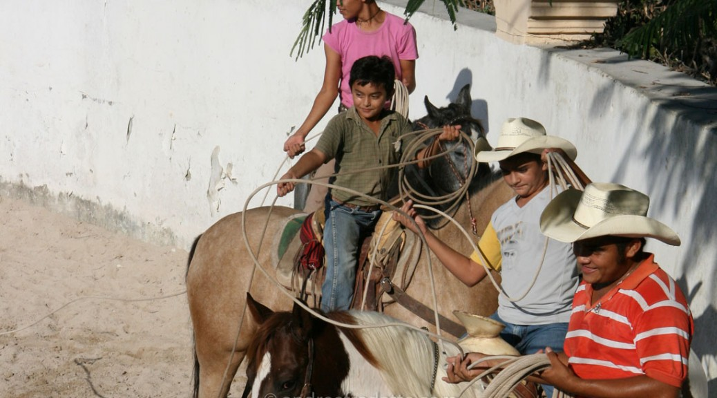 Young cowboy trainees, Hacienda Kankabchen, Yucatan, Mexico. Photo by Andrée Fredette
