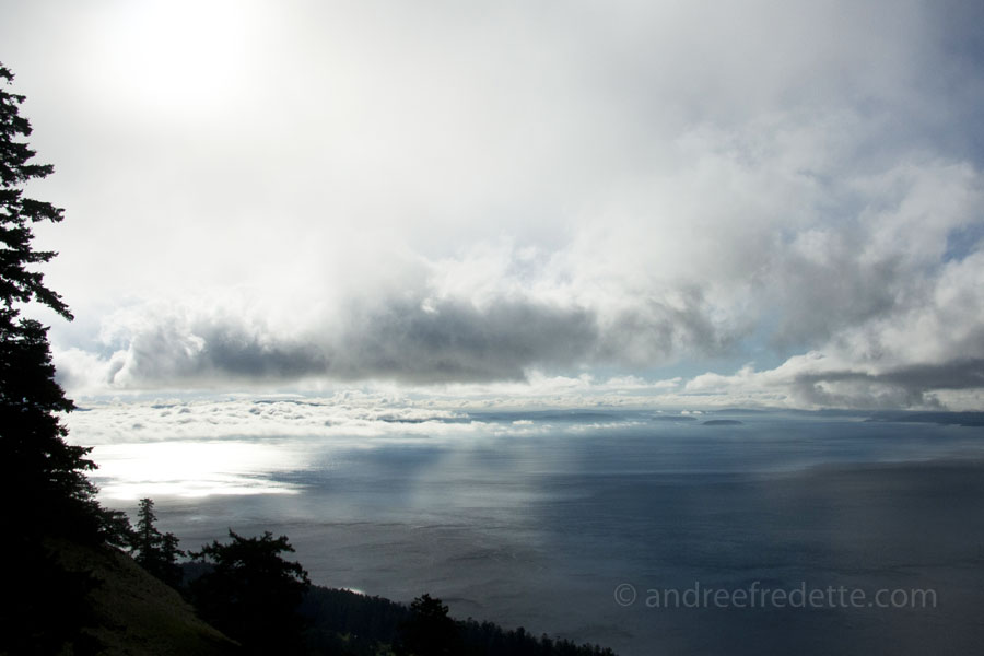 Sky and cloud action, Saturna Island. Photo by Andrée Fredette