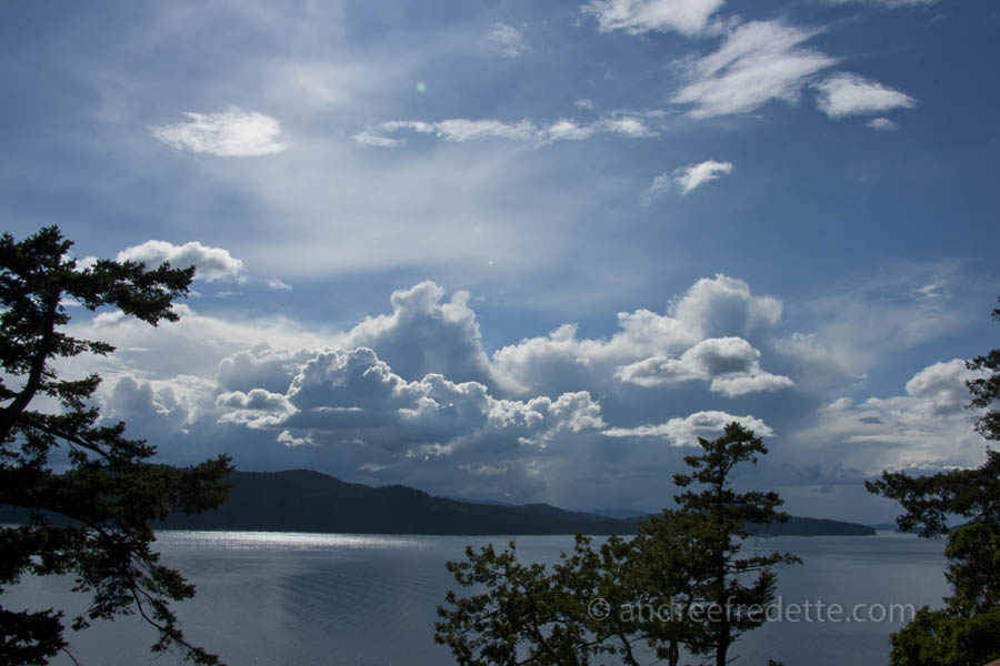 Storm clouds approaching, Saturna Island. Photo by Andrée Fredette