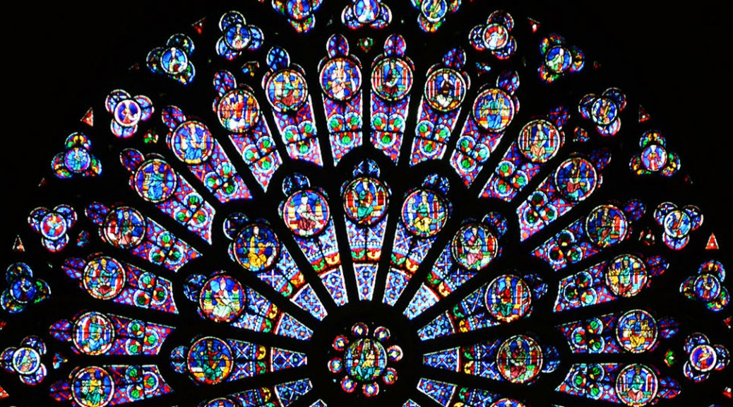 North Transept Rose, Notre-Dame de Paris. Photo by Oliver Mitchell