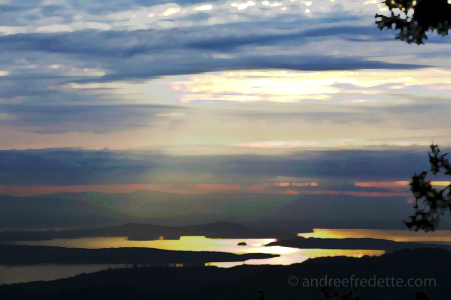Gulf Islands View, in Winter. Photo © Andrée Fredette