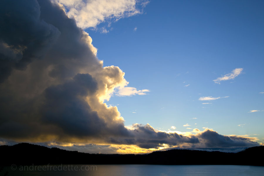 Clouds Moving In over Pender Island. Photo by Andrée Fredette
