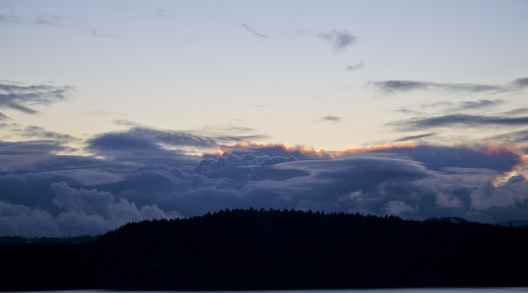 Sunet over Pender Island, January 31, 2016. Photo by Andrée Fredette