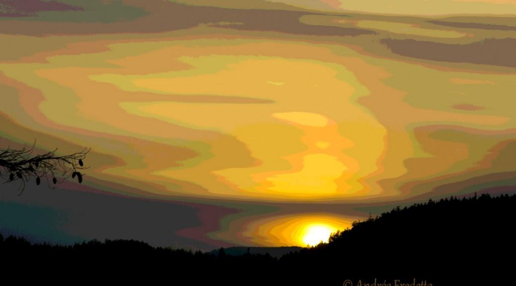 February 20 sunset, stylized. Photo by Andrée Fredette