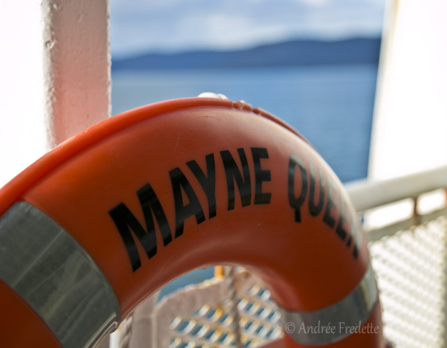 Mayne Queen Ferry lifebuoy. Photo by Andrée Fredette