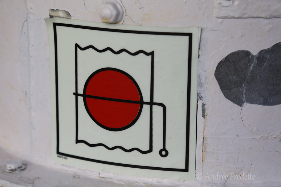 Pictogram on Mayne Queen Ferry. Photo by Andrée Fredette